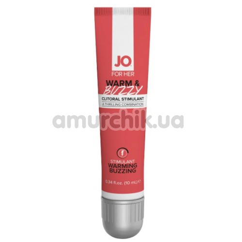 Гель для стимуляции клитора JO Clitoral Gel - Warm & Buzzy, 10 мл - Фото №1