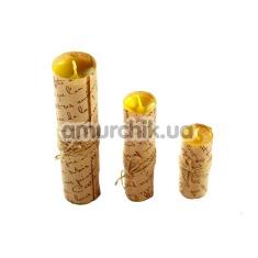 Набор Shibari Studio из 3 свечей, желтый - Фото №1