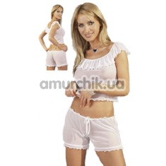 Белая пижамка Pyjama: маечка + шортики - Фото №1