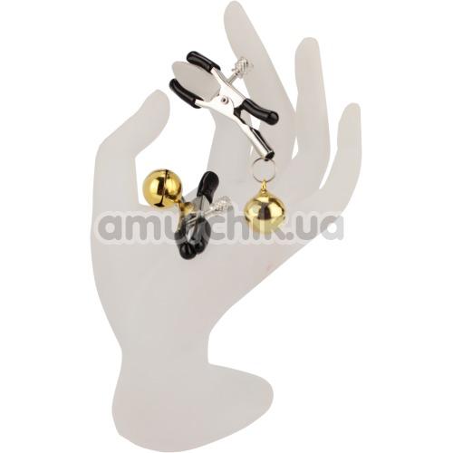 Зажимы для сосков Nipple Golden Bells с колокольчиками, золотые