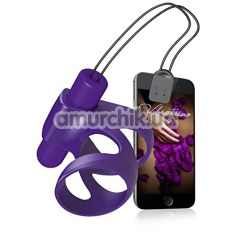 Насадка на пенис с вибрацией Amor Vibratissimo Zickzack, фиолетовая - Фото №1