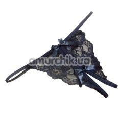 Трусики-стринги кружевные с бантиками
