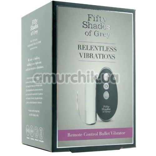 Клиторальный вибратор Fifty Shades of Grey Relentless Vibrations Remote Bullet Vibrator