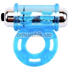 Виброкольцо Get Lock Vibrating Bull Ring, голубое - Фото №1