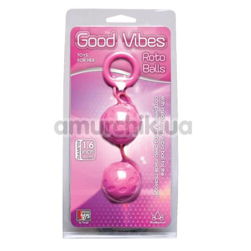 Вагинальные шарики Good Vibes Roto Balls, розовые