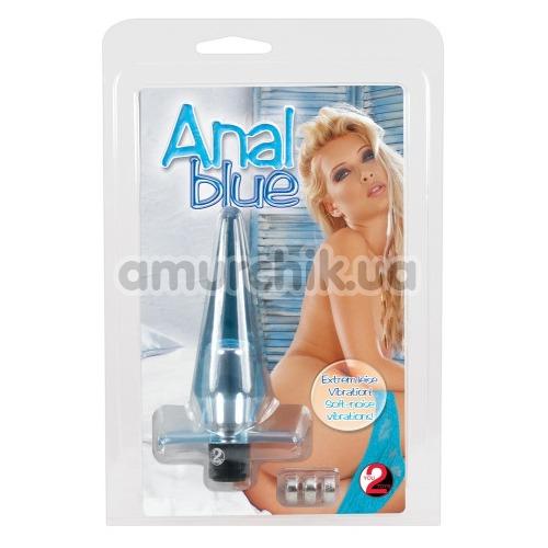 Анальная пробка с вибрацией Anal Blue vibro Buttplug