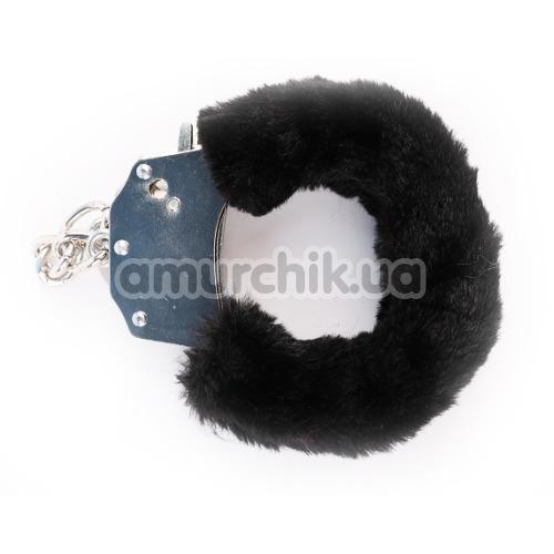 Наручники Hi-Basic Fur-lined Handcuffs, черные