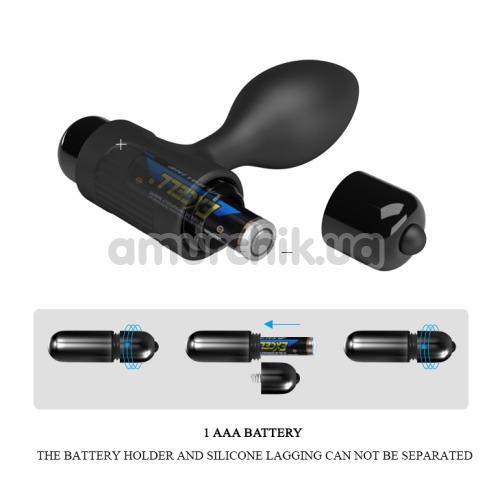 Анальная пробка с вибрацией Pretty Love Vibro Butt Plug, черная
