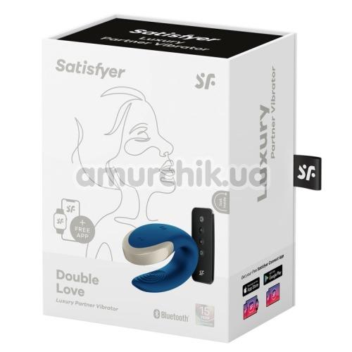 Вибратор Satisfyer Double Love Luxury Partner Vibrator, синий