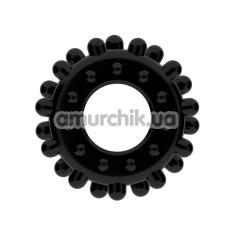 Эрекционное кольцо Power Plus Cock Ring Series LV1433, черное - Фото №1