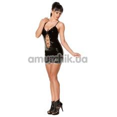 Платье Avanza Vinyl Dress со шнуровкой, чёрное - Фото №1