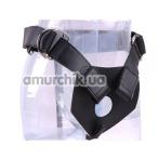 Трусики для страпона R.G.B Sex Harness Luxe Harness + 3 кольца черные - Фото №1