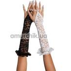 Перчатки Gloves белые (модель 7708) - Фото №1
