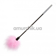 Перышко для ласк Loveshop Diamond длинное, розовое - Фото №1