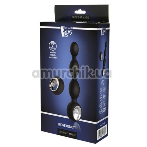 Анальная цепочка с вибрацией Midnight Magic Dione Remote, черная