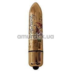 Клиторальный вибратор Rocks-Off Lal Hardy RO-120 mm 10-Speed Wings of Desire, золотой - Фото №1