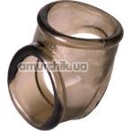 Эрекционное кольцо гладкое XLover Cock Ring, черное - Фото №1