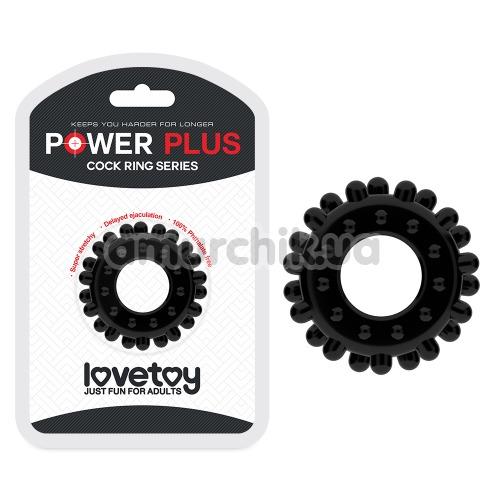Эрекционное кольцо Power Plus Cock Ring Series LV1433, черное