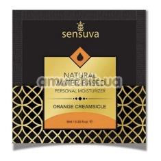 Лубрикант Sensuva Natural Water-Based Orange Creamsicle - апельсиновое мороженое, 6 мл - Фото №1