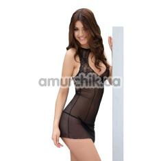 Комплект Sonia черный: комбинация + трусики-стринги