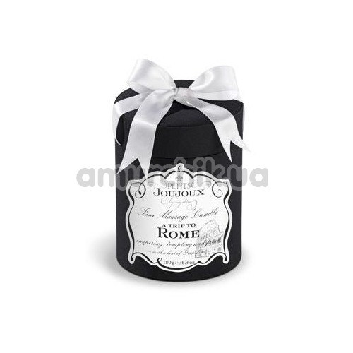 Свеча для массажа Petits Joujoux A Trip To Rome Grapefruit and Bergamott - грейпфрут и бергамот, 190 мл
