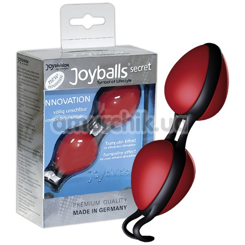 Вагинальные шарики Joyballs Secret, красно-черные