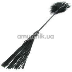 Плеть Whip & Tickle, с чёрно-белыми пёрышками - Фото №1