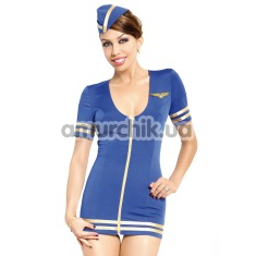 Костюм стюардессы Stewardess (модель 1751): платье + шапочка - Фото №1