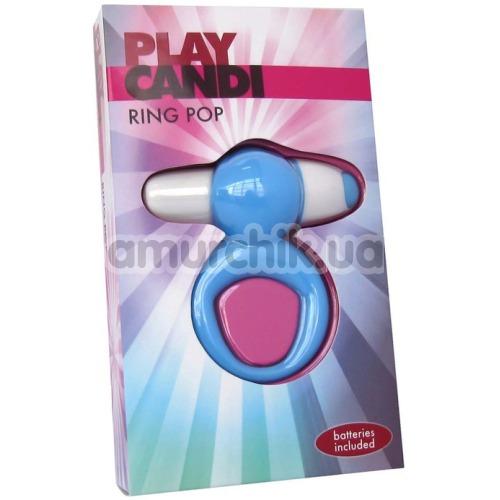 Виброкольцо Play Candi Ring Pop, голубое