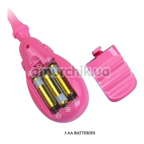 Вакуумная помпа с вибрацией для клитора Resonating Automatic Clitoral Pump, розовая