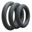 Набор эрекционных колец OptiMALE 3 C-Ring Set Thick, черный - Фото №1