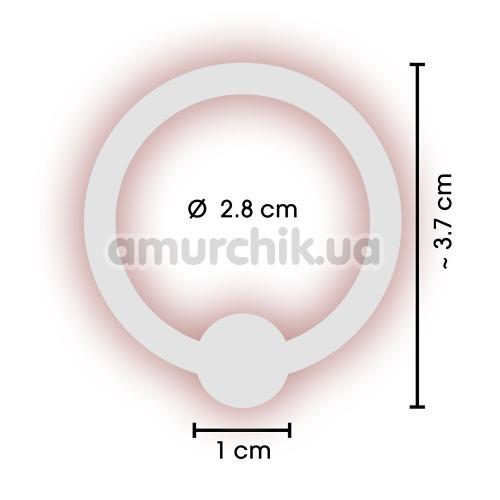 Эрекционное кольцо Sextreme Steel Glans Ring With Ball, 2.8 см