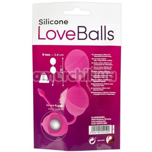 Вагинальные шарики Silicone Love Balls, розовые