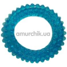 Кольцо-насадка Pure Arousal голубое с пупырышками - Фото №1