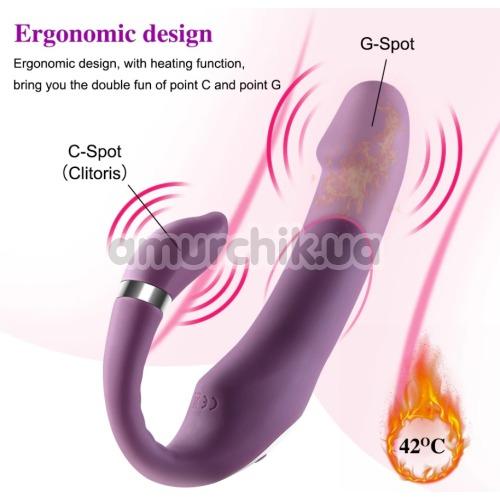 Вибратор клиторальный и точки G PL-VR274, фиолетовый