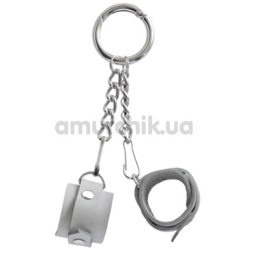 Брелок Feral Feelings наручники, белый - Фото №1