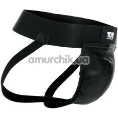 Мужские трусы Tom of Finland Leather Jock Strap, черные - Фото №1