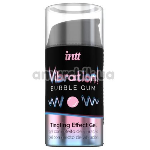 Возбуждающий гель с эффектом вибрации Intt Vibration Bubble Gum Tingling Effect Gel - жвачка, 15 мл