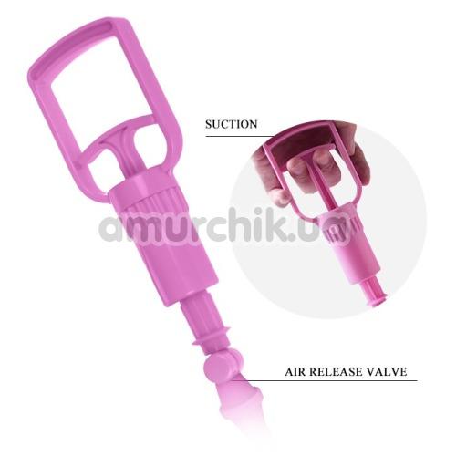 Вакуумная помпа для увеличения груди Breast Pump 014091-5, розовая