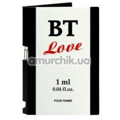 Туалетная вода с феромонами BT Love, 1 мл для женщин