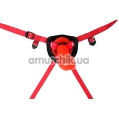 Страпон Hot Storm Thumper Strap-on, красный - Фото №1
