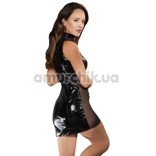 Платье с вставками из сетки Black Level, черное