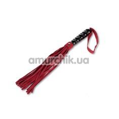 Плеть замшевая Пикантные Штучки, красно-черная - Фото №1