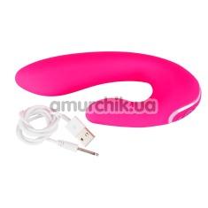 Вибратор клиторальный и для точки G Javida Vibe With Clit Stimulator, розовый - Фото №1