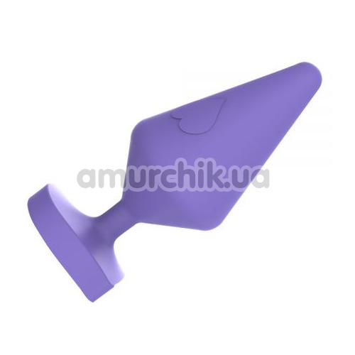 Анальная пробка MisSweet Luv Heart Plug Large, фиолетовая