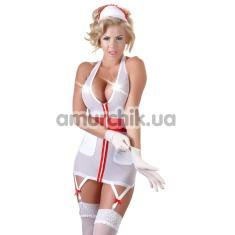 Костюм медсестры Cottelli Collection Costumes 2470578 белый: платье + шапочка - Фото №1
