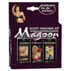 Набор для массажа Magoon Erotic Massage, 3 x 50 мл - Фото №1