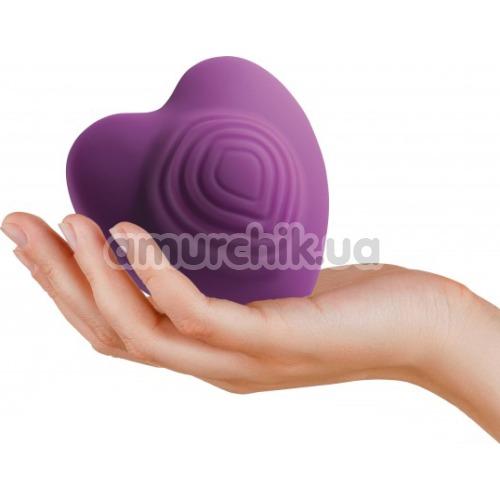 Клиторальный вибратор Rocks-Off Heart Throb, фиолетовый