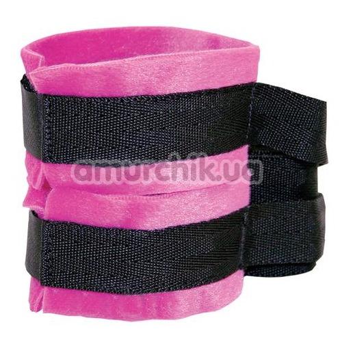 Фиксаторы для рук Sex & Mischief Kinky Pinky Cuffs With Tethers, розовые
