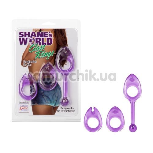 Набор из 3 эрекционных колец Shane's World Class Rings, фиолетовый